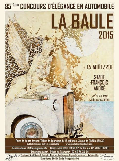 L'affiche du Concours d'élégance en automobile de La Baule 2015