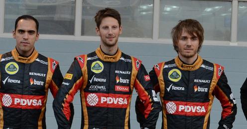 F1-2014-Les-pilotes-du-Team-Lotus-2014-Maldonado-Grosjean-et-Charles-Pic