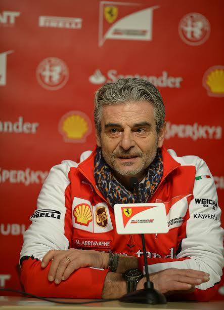 F1-2015-MONTMELO-20-janvier-SCUDERIA-FERRARI-Conférence-de-MAURIZIO-ARRIVABENE-Photo-Antoine-CAMBLOR