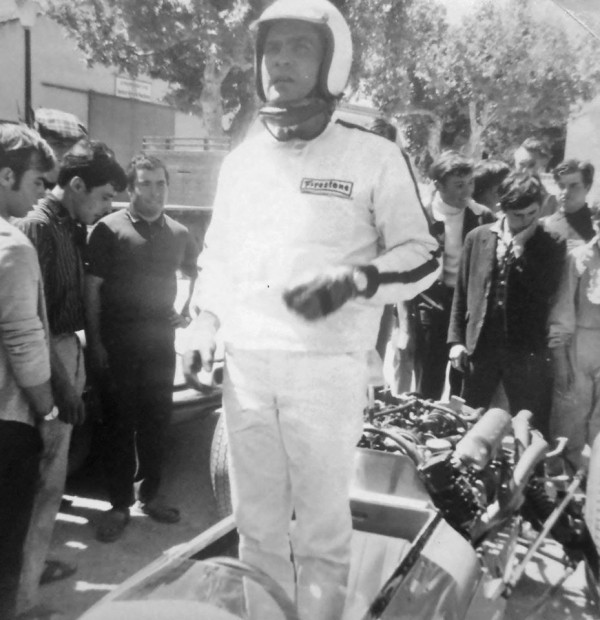 GUY LIGIER pilote de F1 en 1966 Photo Collection privée