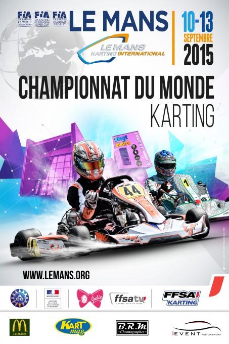 KARTING 2015 LE MANS CHAMPIONNAT DU MONDE Affiche