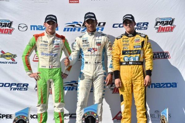 MAZDA-PRO-SERIES-2015-Double  podium pour TIM-BURET à MID-OHIO