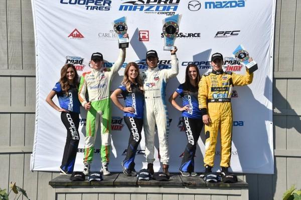 MAZDA-PRO-SERIES-2015-Encore deux places sur le podium pour TIM-BURET-poidium
