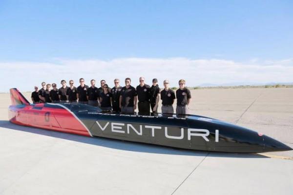 VENTURI- L'Equipe-à-Wendover-Utah après son record du monde.