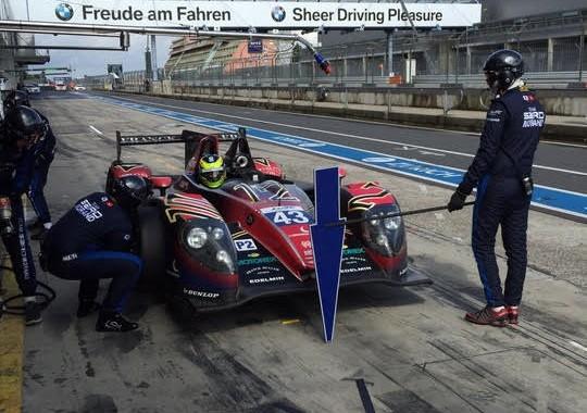 WEC 2015 Essai NURBURGRING 27 et 28 juillet  La MORGAN du Team MORAND avec Pierre RAGUES OLIVER WEBB et le pilote GP2