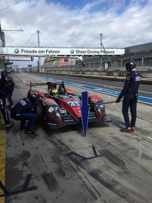 WEC-2015-Essai-NURBURGRING-27-et-28-juillet-La-MORGAN-du-Team-MORAND-avec-Pierre-RAGUES-OLIVER-WEBB-et-le-pilote-GP2