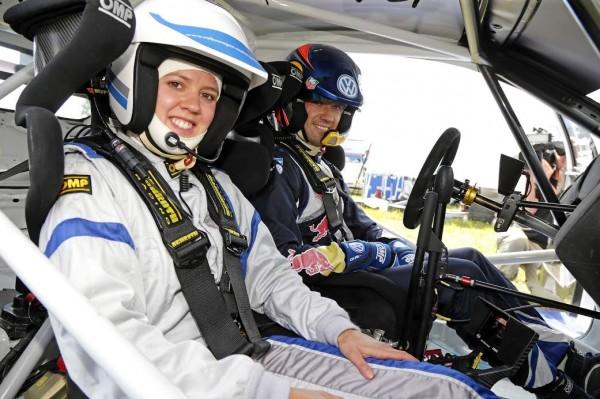 WRC 2015 ALLEMAGNE Test OGIER avec Viktoria Rebensburg