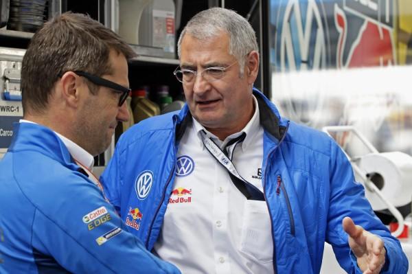 WRC 2015 FINLANDE - FX Demaison et le Dr Heinz-Jakob Neußer TEAM VW