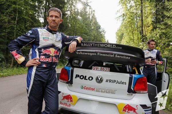 WRC-2015-FINLANDE-La-VW-POLO-de-SEB-OGIER-et-JULIEN-INGRASSIA-HOMMAGE-RIP-JULES