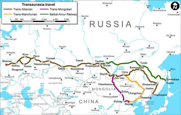 LE TRAJET MOSCOU-PÉKIN EN TRAIN ACTUEL PAR LE TRANSSIBÉRIEN
