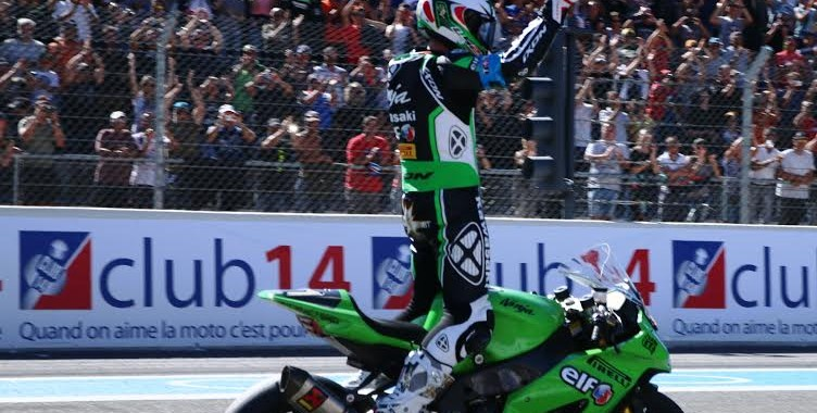 Bol d'Or 2015 Paul Ricard  Attivee victorieuse pour la KAWASAKI  avec Greg LEBLANC  -photo Jean-François THIRY