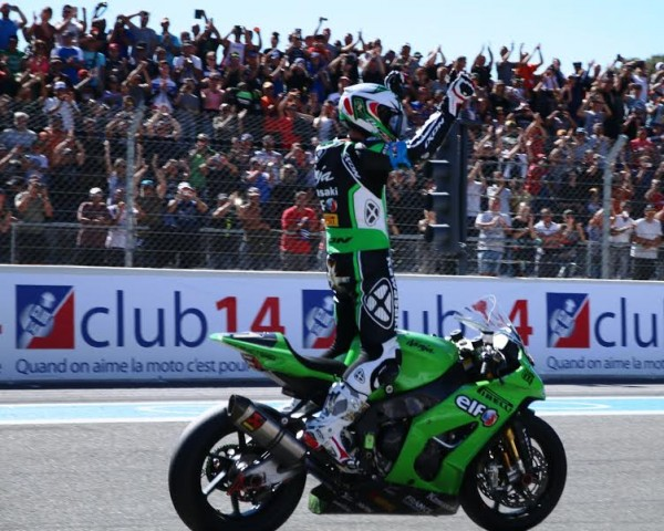 Bol d'Or 2015 Paul Ricard Attivee victorieuse pour la KAWASAKI avec Greg LEBLANC -photo Jean-François THIRY.