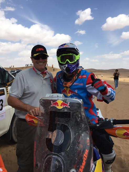 CHINA SILK ROAD RALLY 2015 - Hubert Auriol avec Monleon Hernandez