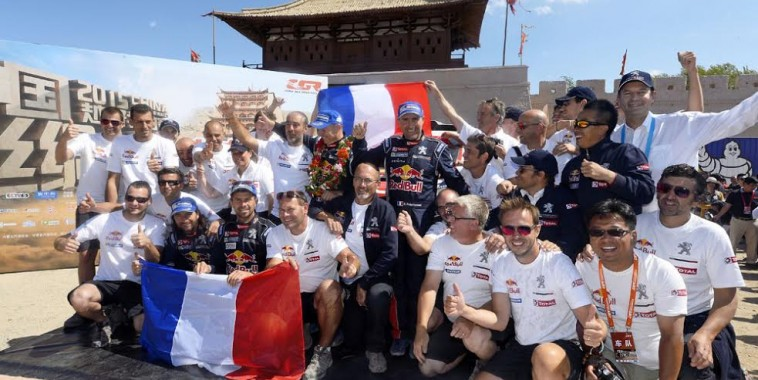 TEAM PEUGEOT during the 2015 China Silk Road rally, stage 13, final stage, from Dunhuang to Dunhuang on september 11th 2015, China. Photo Eric Vargiolu / DPPI