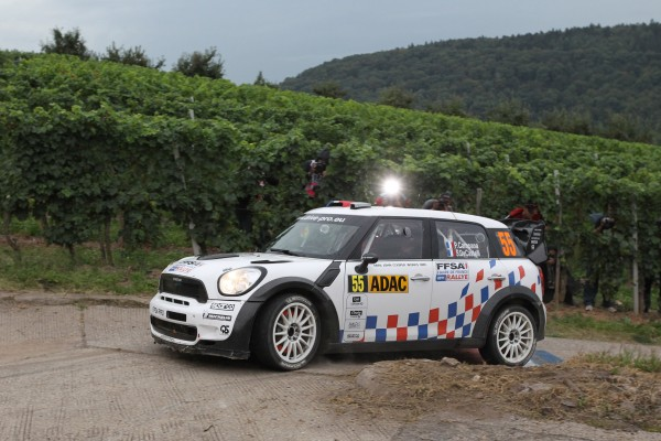 Rallye d'Allemagne 2011- La MINI de Pierre Campana et Sabrina de Castelli.