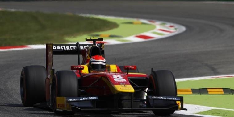 GP2 2015 MONZA Le podium de la seconde course avec ROSSI 1er  -