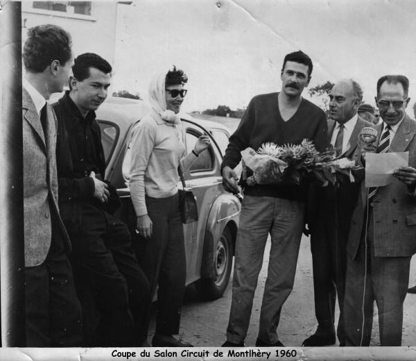 LES GRANDES HEURES AUTOMOBILES 2015 Le pére de Franz HUMMELL a MONTLHERY en 1960.