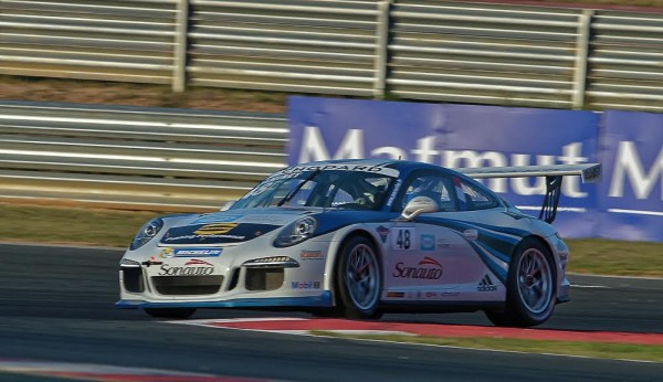 PORSCHE CARRERA CUP 2015 NAVARRA- Mathieu JAMINET 1ére Course Photo Antoine CAMBLOR.