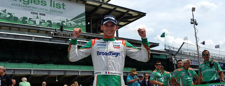 PRO MAZDA SERIES 2015 GP INDIANAPOLIS 1ere victoire pour TIM BURET le 9 mai.