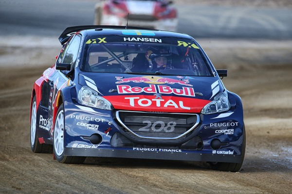 RALLYCROSS 2015 LOHEAC PEUGEOT 208 de HANSEN Photo Gilles VITRY.