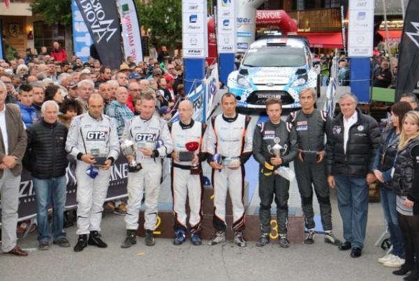 RALLYE MONT BLANC 2015 Hommage des pilotes a Frédéric COMTE