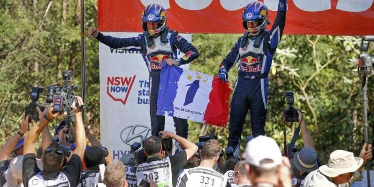 WRC 2015 AUSTRALIE- Le 3éme sacre pour Seb OGIER et Julien INGRASSIA LE DIMANCHE 13 Septembre 2015.