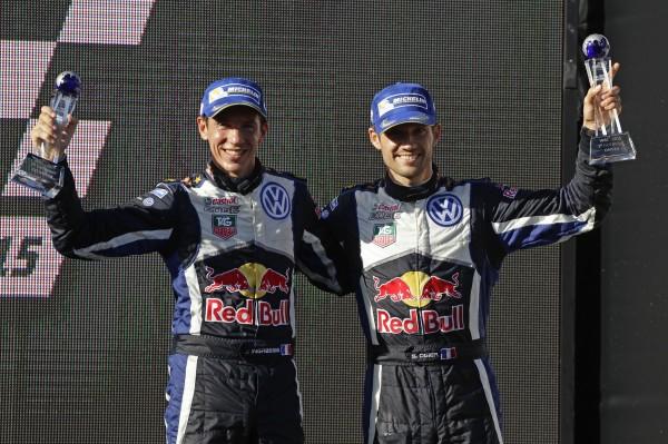 WRC 2015 AUSTRALIE OGIER INGRASSIA CHAMPIONS DU MONDE pour la 3éme fois, le dimanche 13 Septembre