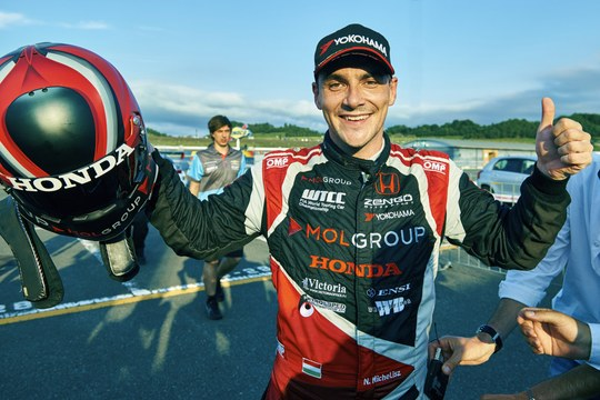 2015  EVENT:  Race of Japan       TRACK:  Twin Ring Motegi   TEAM:  Zengo Motorsport - Honda Customer Racing CAR:  Honda Civic wtcc DRIVER:  Norbert Michelisz took a historic pole position for race 1