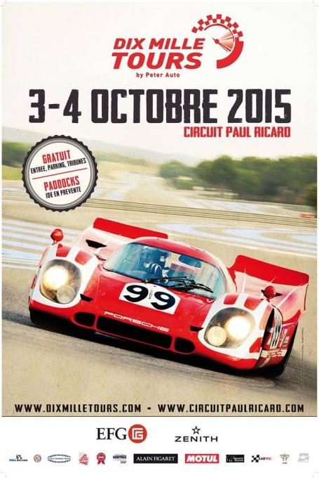 10000 TOURS 2015 sur le circuit PAIL RICARD -AFFICHE
