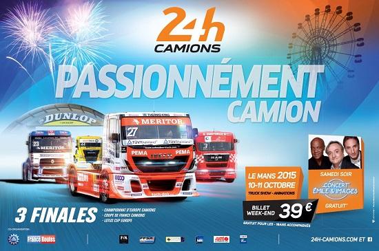 24 HEURES DU MANS CAMION 2015 Affiche