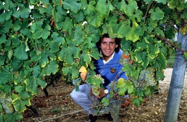 30-ANS-1er-titre-de-CHAMPION-du-MONDE-ALAIN-PROST-6-Octobre-1985-Dans-le-vignoble-de-CHATEAU-YQUEM-Photo-Bernard-BAKALIAN.