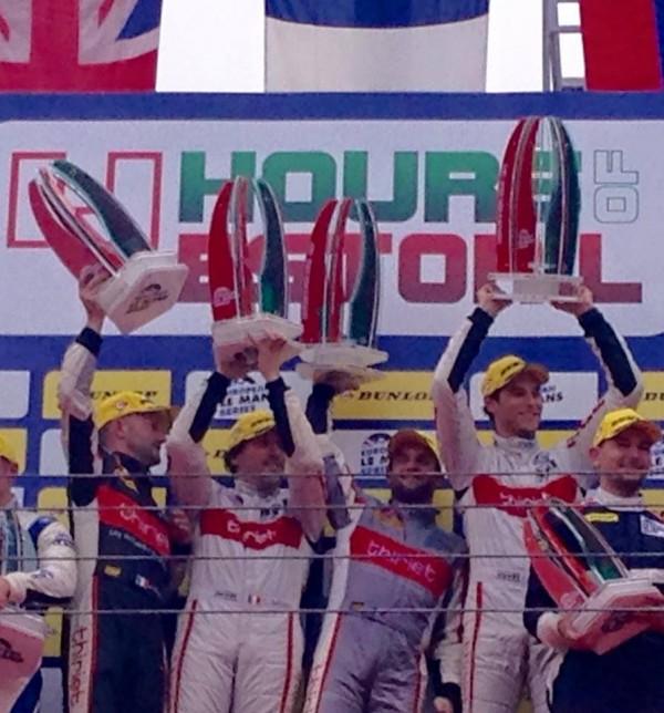 ELMS 2015 ESTORIL 1ére place sur le podium pour les pilotes equipe THIRIET - LAPIERRE - BADEY et Pierre THIRIET.
