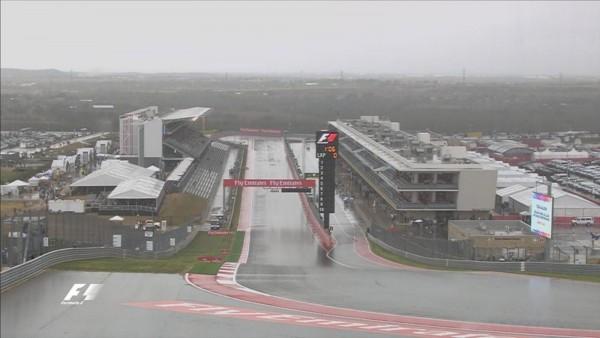 F1 2015 AUSTIN La seconde seance des essaius librtes annulee a cause du deluge