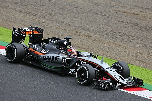 F1-2015-GP-DE-RUSSIELa FORCE IN?DIA MERCEDES de NICO HULKENBERG