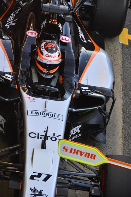 F1-2015-MONTMELO-27-FEVRIER-FORCE-INDIA-et-NICO-HULKENBERG-Photo-MAX-MALKA