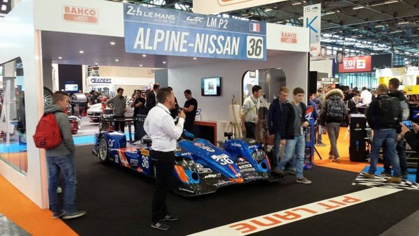 L alpine a4 50b en vedette au salon quip auto for Stand salon auto