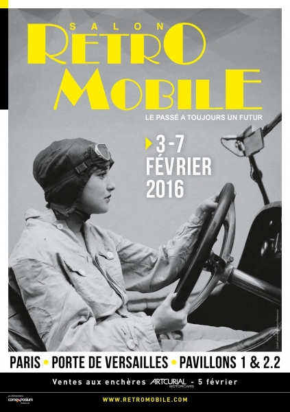 SALON RETROMOBILE 2016 Affiche --