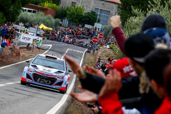 WRC 2015 ESPAGNE La HYUNDAI i20WRC de DANI SORDO