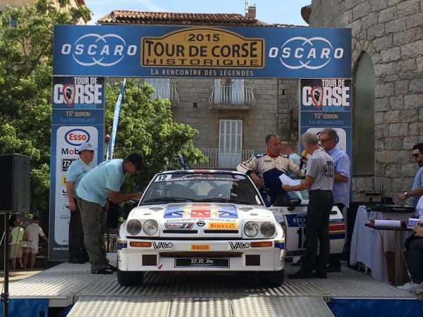 TOUR DE CORSE HISTORIQUE 2015 Jean Francois BERENGUER second au soir de la 1ére étape à PORTO VECCHIO