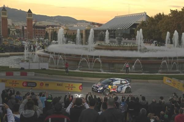 WRC 2015 ESPAGNE La POLO de SREB OGIER a MONTJUICH le 22 octobre.