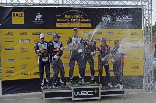 WRC 2015 ESPAGNE MIKKELSEN-FLOENE les grands vainqueurs ce dimanche 25 Octobre avec LATVALA ANTTILA et SORDO.