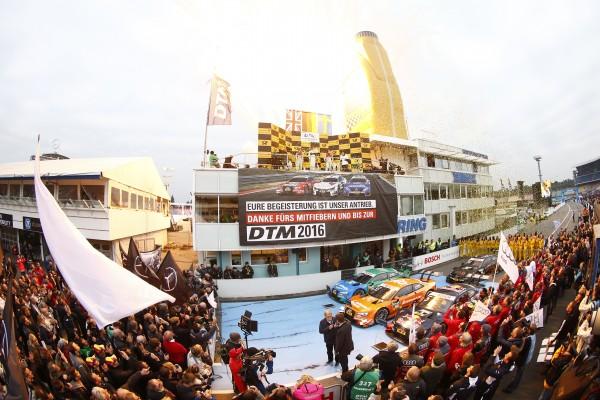 DTM 2015 HOCKENHEIM - Le dernier podium de la saison 2015 avec GREEN -EKSTROM et MORTARA