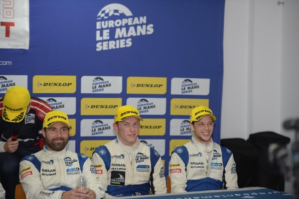 ELMS 2015 PAUL RICARD Equipage de la GIBSON GREAVES Motorsport finalement declaré vainqueur ce dimanche 6 septembre Photo Antoine CAMBLOR.