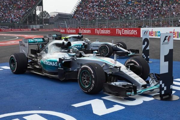 F1 2015 MEXICO 1er RODBERG DEVANT HAMILTON le 1er novembre