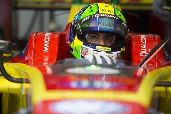 2015/2016 FIA Formula E Championship. Putrajaya ePrix, Putrajaya, Malaysia. Saturday 7 November 2015. Practice Lucas Di Grassi (BRA), ABT Audi Sport FE01 Photo: Sam Bloxham/FIA Formula E/LAT ref: Digital Image _SBL9993