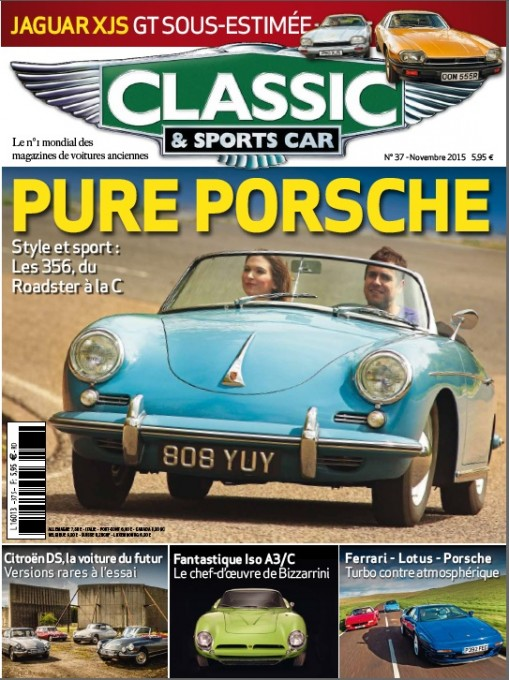 MAGAZINE CLASSIC & SPORTS CAR N°37 Novembre 2015