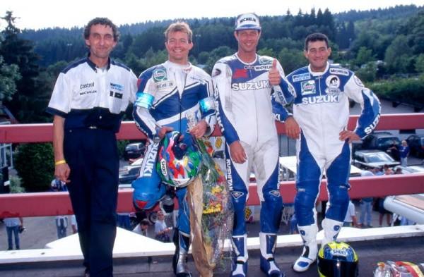 MOTO-ENDIRANCE-1996-A-SPA-avec-Doug-Polen-et-JE-Gomez-©-Photo-Michel-Picard