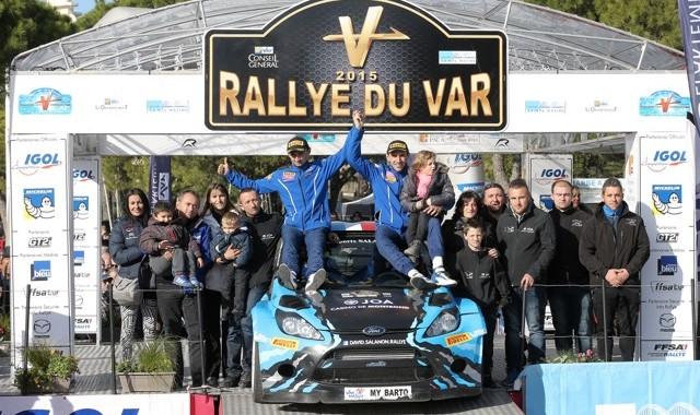 RALLYE DU VAR 2015 Le podium avec le vainqueur DAVID SALANON Dimanche 29 Novembre