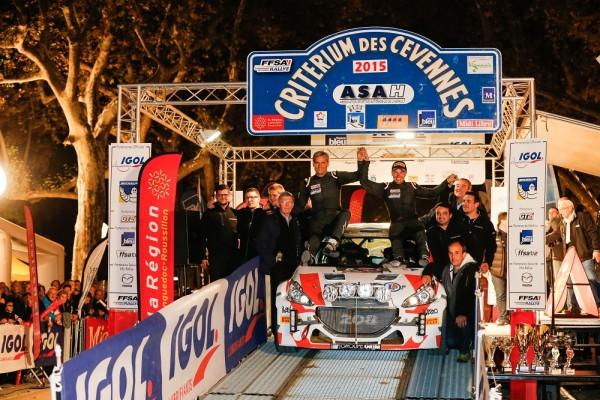 RALLYE FRANCE 2015V CEVENNES YOHANN BONATO victorieux avec sa 208 T 16.