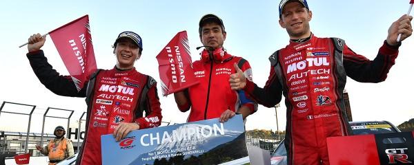 SUPER GT 2015 MOTEGI LES CHAMPIONS DU TEAM NISSAN NISMO QUINTARELLI MATSUDA